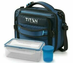 Titan Deep Freeze Lunch Box Insulated 2 Ice Walls with Leak Proof Container Set