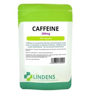 Lindens Cafeïne 200mg 100 capsules Stimulans