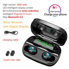 Bluetooth 5.0 Wireless Earphone TWS Headphones Touch Control  9D Stereo Headset