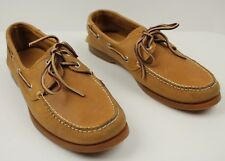 Timberland Leather Boat Shoe Loafers Men's 11 M Light Brown