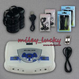 Dual Ionic Foot Bath Detox Machine, ion Detox Foot Bath Spa Cleanse System for