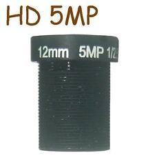 Sunvision CCTV HD 5MP 12mm Monofocal Fixed Iris 23⁰ AOV Board / M12 / MTV Lens