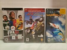 Playstation PSP Games Lot Fifa 07 Soccer ATV Offroad Fury Wipeout Pure Untested