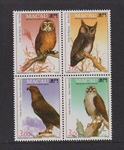Macao - 1993, Birds of Prey set - MNH - SG 806/9