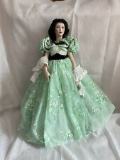 Franklin Mint Gwtw Doll Scarlett as portrayed by Vivian Leigh Porcelain Retired