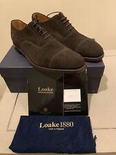 NIB Loake1880 Aldwych Dark Brown Suede Captoe Oxfords Sz 10 - Loake Shoes