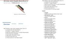 HD Codec Audio Daughter Board.Rev.A1.0 Mfg Part #:  TF-PER-U01H-A10, 7.1 Surroun