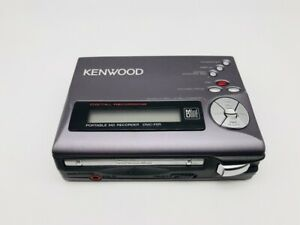 MD0915 Excellent  KENWOOD PORTABLE MD RECORDER DMC-F5R  Black