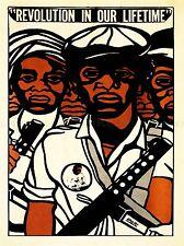 Publicité de droits civils Black Panther Party l'art africain Poster Print lv6965