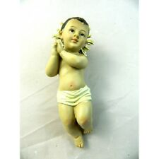 Gesù Bambino con Raggiera Cm12 Bimbo Bambinello Aureola Natività Pastori Presepe