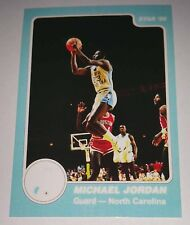 Michael Jordan 1985 Star North Carolina Rookie Error Logo Basketball Card No 6