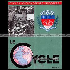 LE CYCLE N°20/1953 ★ Enquête : LE CYCLO VA-T-IL TUER LE VELO ? ★ POULAIN VAP