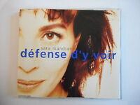 SARA MANDIANO : DEFENSE D'Y VOIR [ CD-MAXI PORT GRATUIT ]