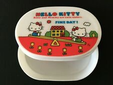 Vintage Sanrio 1976 Hello Kitty Japan Lunch Box Accessory Case Trinket White Red