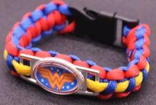 DC Comics WONDER WOMAN Paracord Survival Braided Bracelet