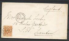 NR.23 D, PUNTST. 44 OP COUVERT 'S GRAVENHAGE - LONDON 5 JAN 74  Ab578