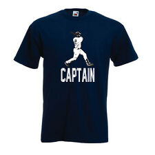 "Derek Jeter New York Yankees ""Captain"" Pinstripes T-shirt Shirt"