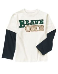 GYMBOREE LOCH NESS HEROES Brave One L/S TEE 4 5 8 10 12 NWT