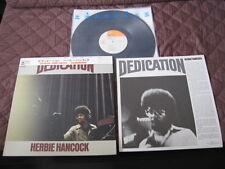 Herbie Hancock Dedication Japan Original Vinyl LP w Top Cap OBI 1974 incl. NOBU