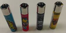 4 PACK OF CLIPPER LIGHTER REFILLABLE ZOMBIE NATION DESIGN