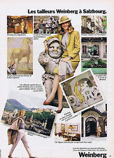 PUBLICITE ADVERTISING 064 1982 WEINBERG Les tailleurs à Salzbourg