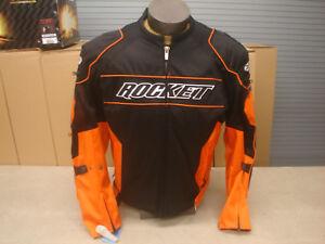 Joe Rocket Men's Resistor Textile Jacket Orange/Back - Choose Size