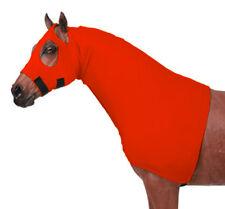 Horse Sleazy Hood / Lycra Hood With Full Separating Zipper X-Large / Orange