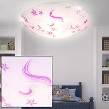 Einhorn LED Mädchen Decken Lampe Kinder Zimmer Leuchte Sterne Glas rosa weiss