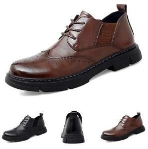 Men's Low Top Faux Leather Shoes Business Brogue Carved Office Work Oxords New L