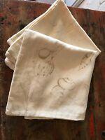 "Pottery Barn Seashells Nautical Green Pillows Beach Ivory Linen Set/2 - 18""x18"""
