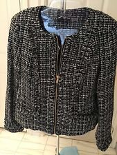 Tweed Jacket By Karl Lagerfeld Size 8 Brand New. Ship To USA and World Wide.