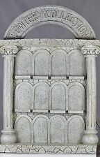 PEWTER COLLECTION STAND - FAUX STONE DISPLAY STAND - OLD ARCHITECTURE - USEFUL