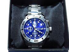 SEIKO Men's Watch Analogue Chronograph WR 100M Blue Face