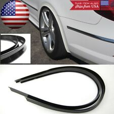 """1 Pair 47"""" Black Arch Wide Body Fender Flares Extension Lip Guar For VW Porsche"""
