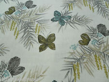 Harlequin Curtain Fabric FLORET 1.25m Pebble/Seagrass Butterfly Floral Design