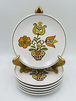 "Set of 6 Noritake Progression Georgetown Japan Salad Plates 8-1/4"""