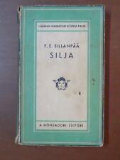 SILJA F E Sillanpaa Mondadori Medusa 1934 libro di scritto da saggistica per