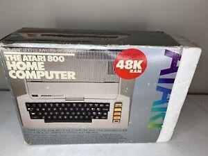 Atari 800 Home Computer Complete in Box CIB 4 - Untested