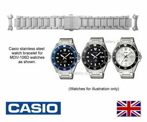 Original Casio Uhrenarmband Band für Casio mdv-106d mdv106 Uhr-Metall Armband