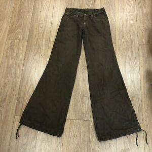 Vintage Lois Flared Jeans/ Trousers 28 Inch Waist 36 Leg Brown B6097