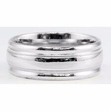 Wedding Size 10 Domed Polished Finish 14k White Gold 8mm Band Ring Fashion