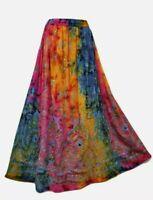 Long Sequin Party Skirt Tie Dye Ladies Boho Hippie Gypsy Rayon 8 10 12 14 14/16