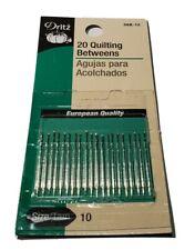 Dritz 56B-10 Quilting Betweens Hand Needles Size 10 20-Count