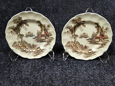 "Johnson Brothers The Old Mill Bread Plates 6 3/8"" Set of 2"