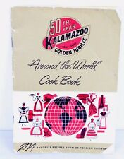 Kalamazoo Stove Co Golden Jubilee Around The World Cook Book Vtg 1951 Paperback
