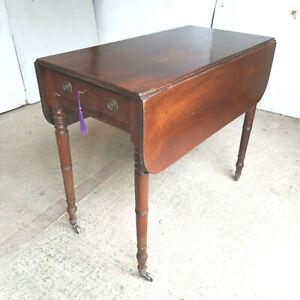 antique,mahogany,Georgian,extending,pembroke,drop leaf,dining table,table,drawer