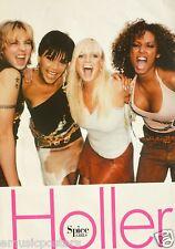 "SPICE GIRLS ""HOLLER"" AUSTRALIAN PROMO POSTER-Posh, Scary, Baby, Sporty Arm & Arm"