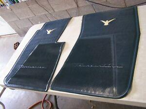 NOS OEM Ford 1958 1959 1960 Thunderbird T-Bird Blue Rubber Floor Mats Front Mat
