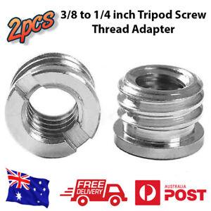 3/8 to 1/4 inch Tripod Screw Thread Adapter, 2pcs