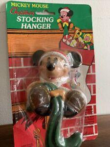 Vintage Disney Mickey Mouse Santa Stocking Hanger Hook